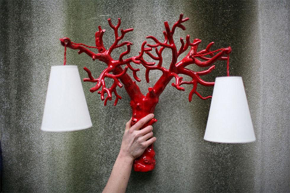 Vackra trädgrenslampor