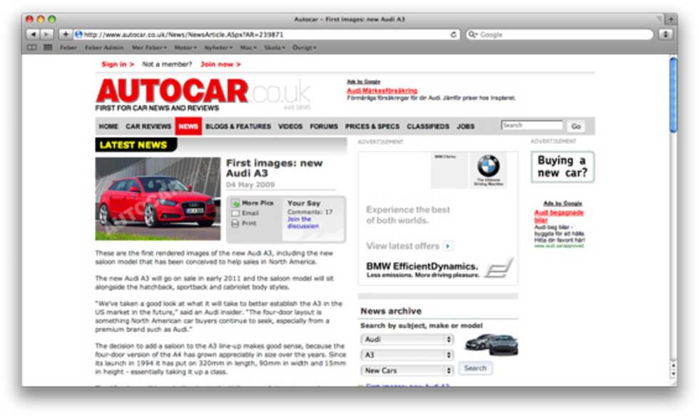 Nästa Audi A3 kommer som sedan