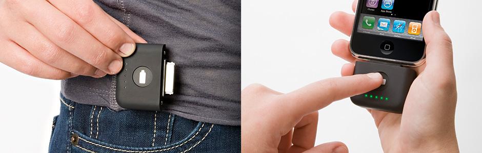 Laddare med inbyggd batteri. För iPhone, iPod och allt med
