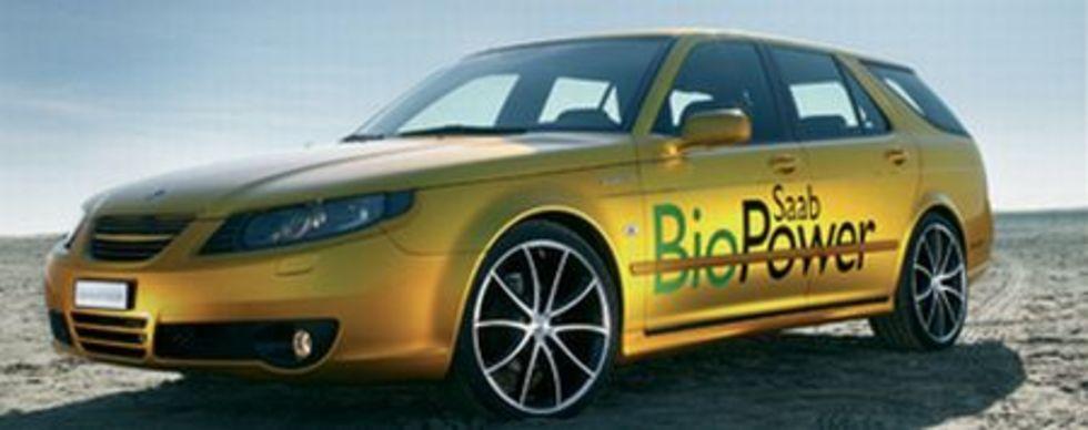 Rinspeed visar Saab 9-5 BioPower-koncept i Genève