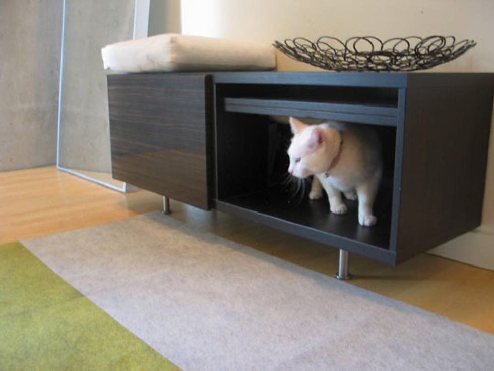 Hur integrera kattlådan i den övriga inredningen?