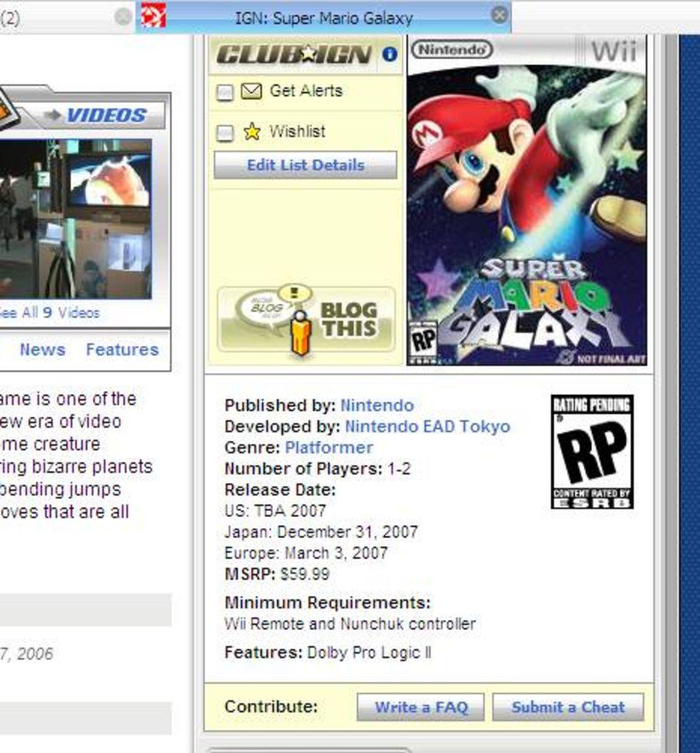 Kommande Wii-spel