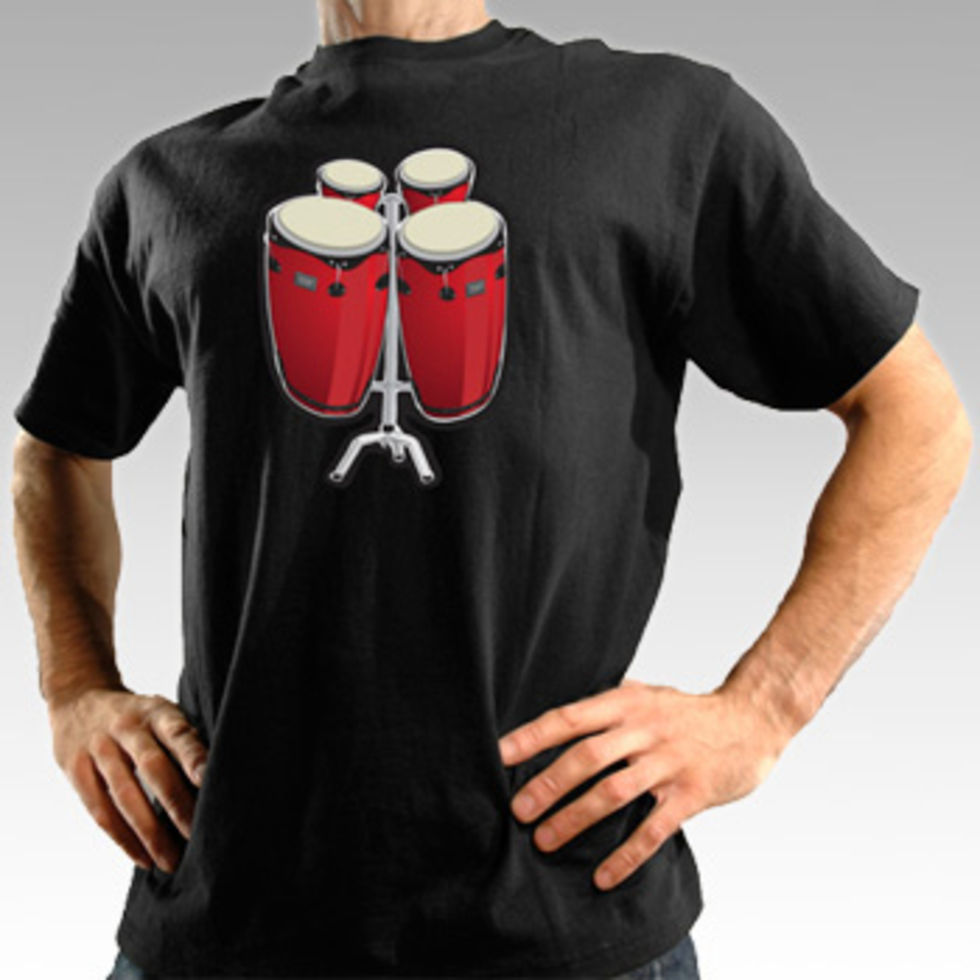 T-shirt med bongo-trummor