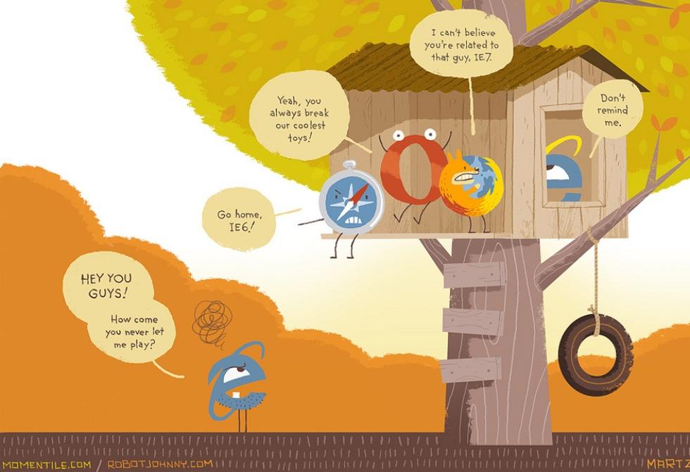 Internet Explorer 6 på väg mot graven