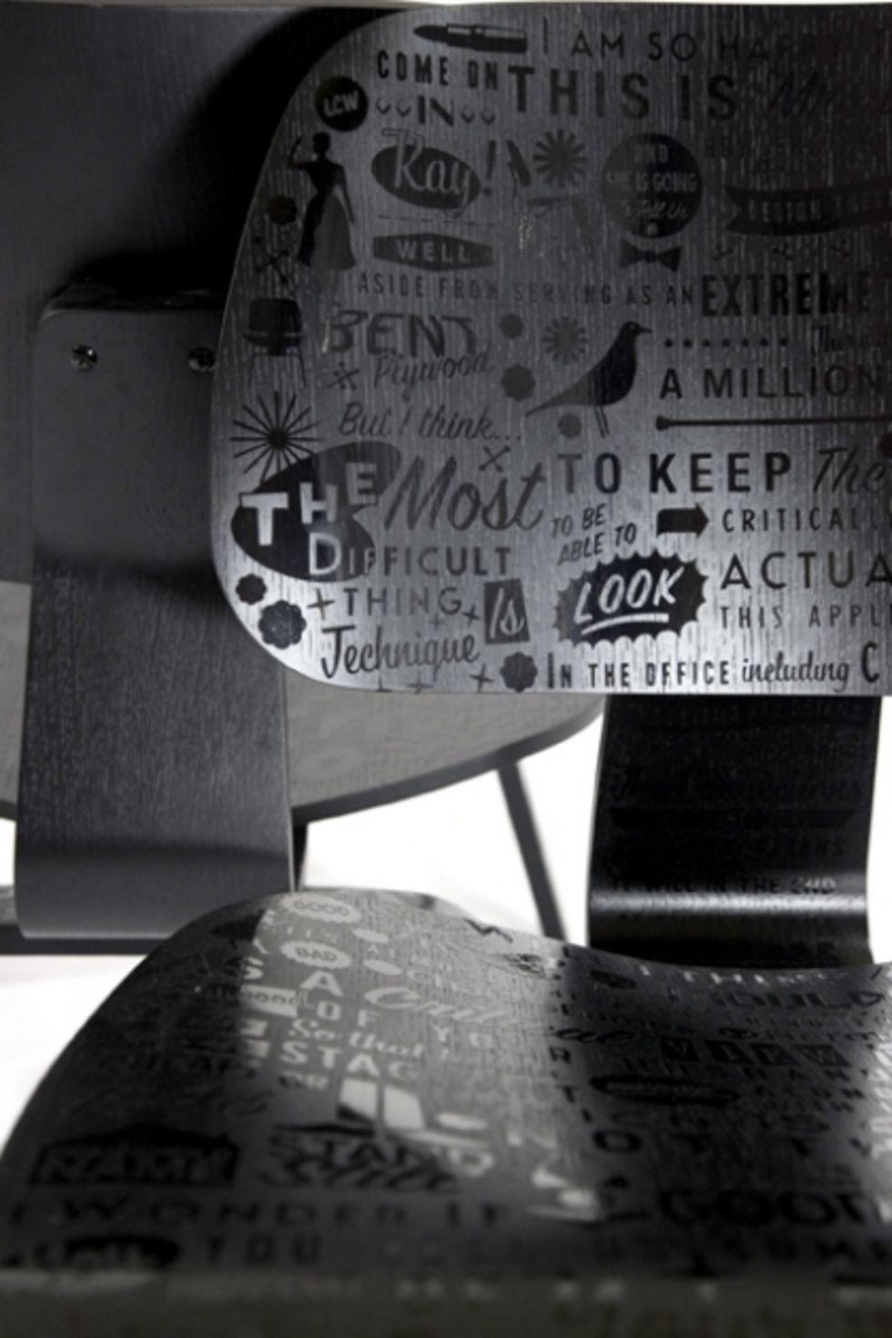 Tryck på Eames DCW-stolar