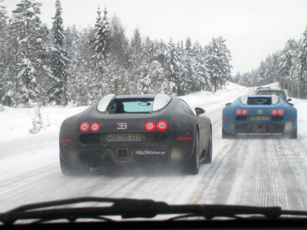 Bugatti Veyron x 2 mellan Trysil och Sälen