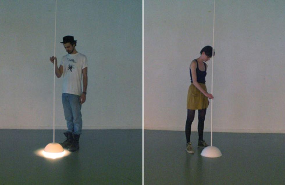 Belysning från golvet