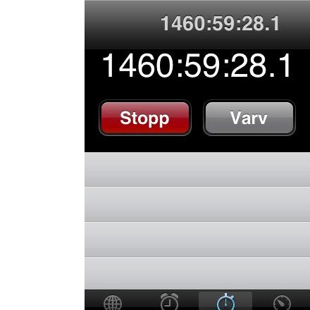 Tips om din iPhone känns lite seg. Kolla tidtagaruret ...