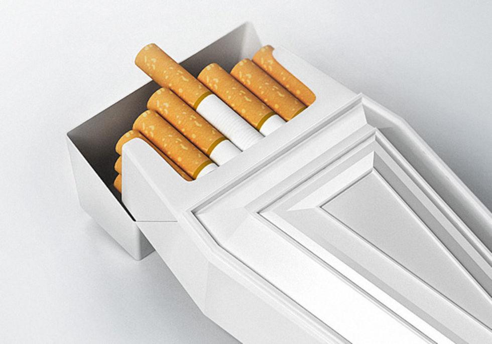 Skrackbilder ska minska rokning