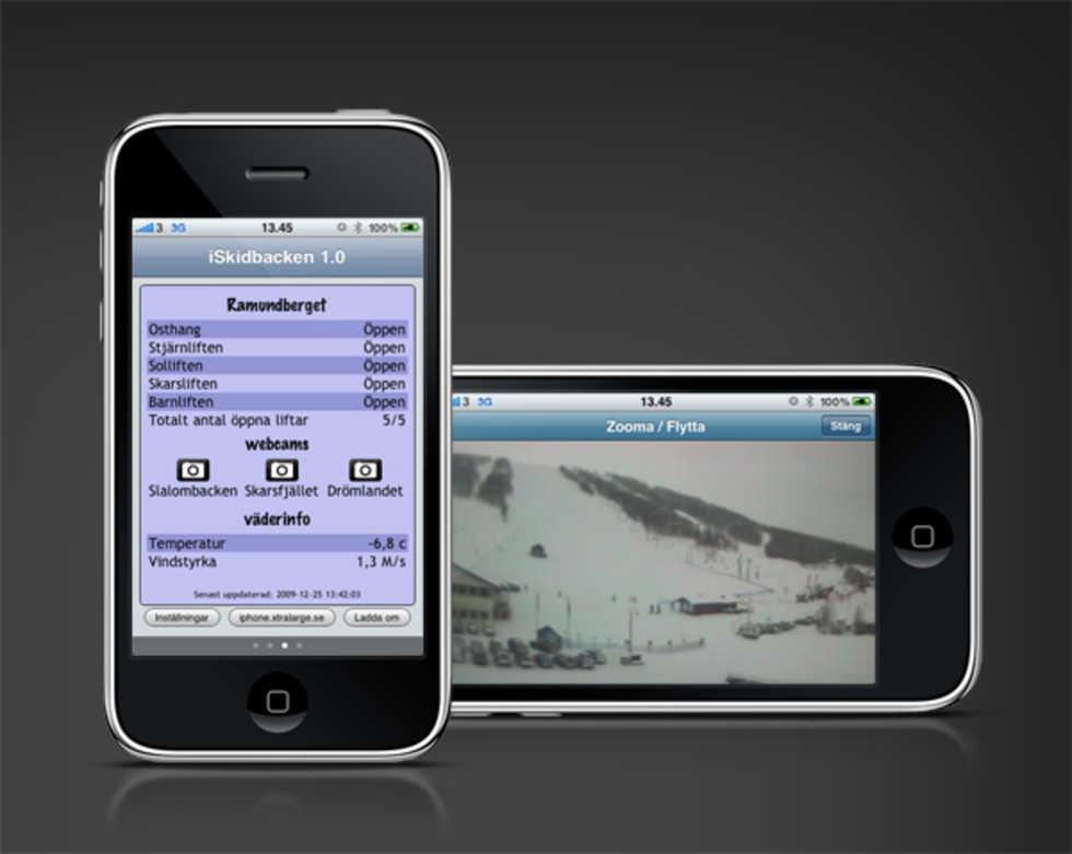 Få koll på skidbacken med iPhone-app