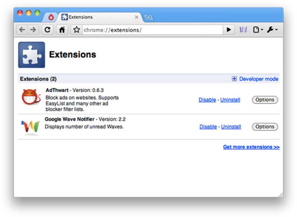 Chrome för Mac nu med extensions