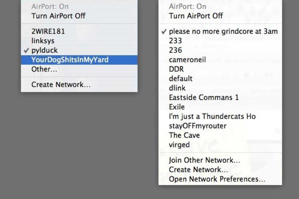 Sköna namn på WiFi-nätverk