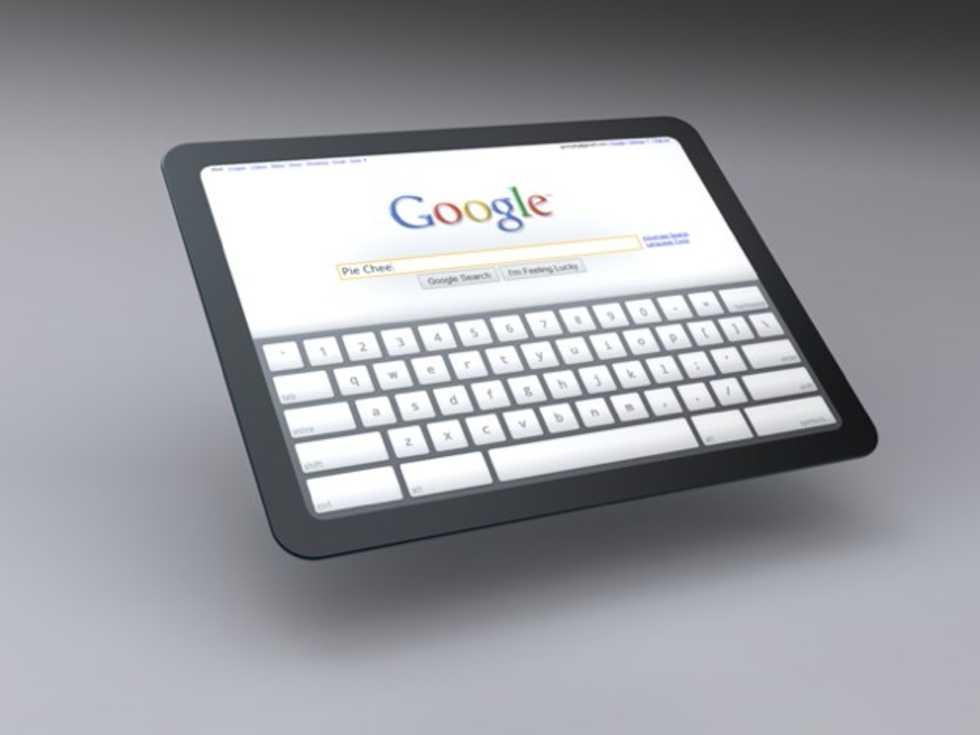 Google visar tablet-koncept med Chrome OS