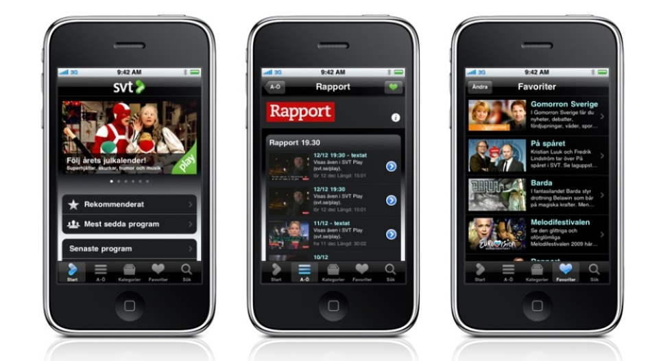 SVT Play kommer till iPhone den 11:e