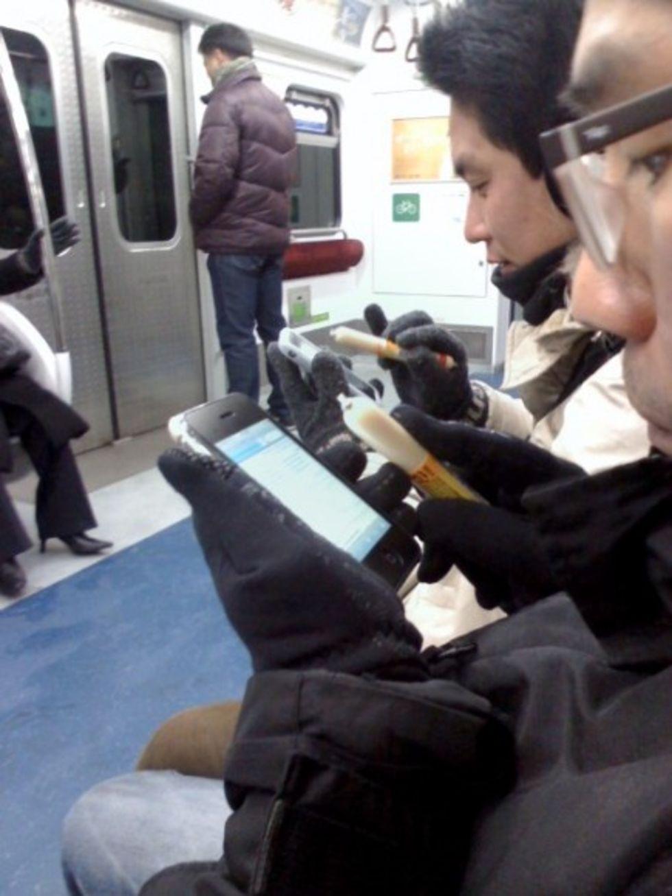 I Korea använder de korvar som fingrar