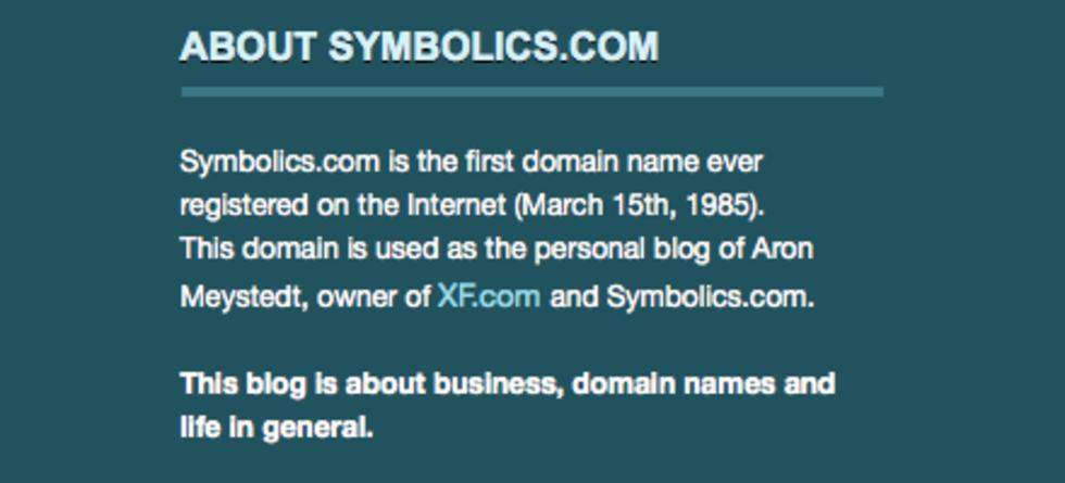 25 år sedan första .com-domänen registrerades