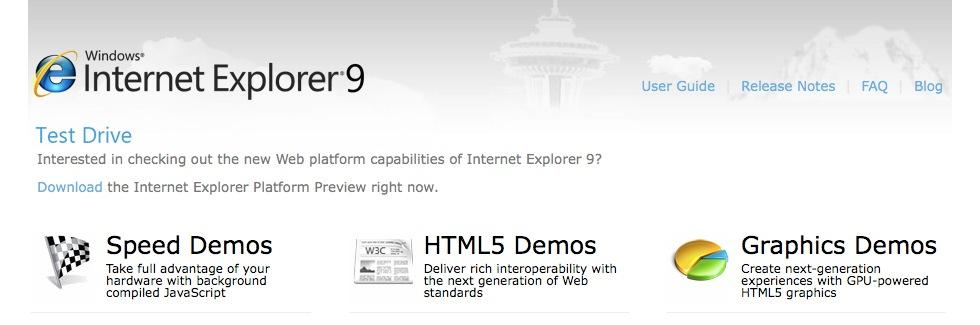 Microsoft visar upp Internet Explorer 9