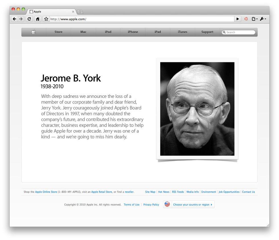Apple hyllar avliden styrelsemedlem