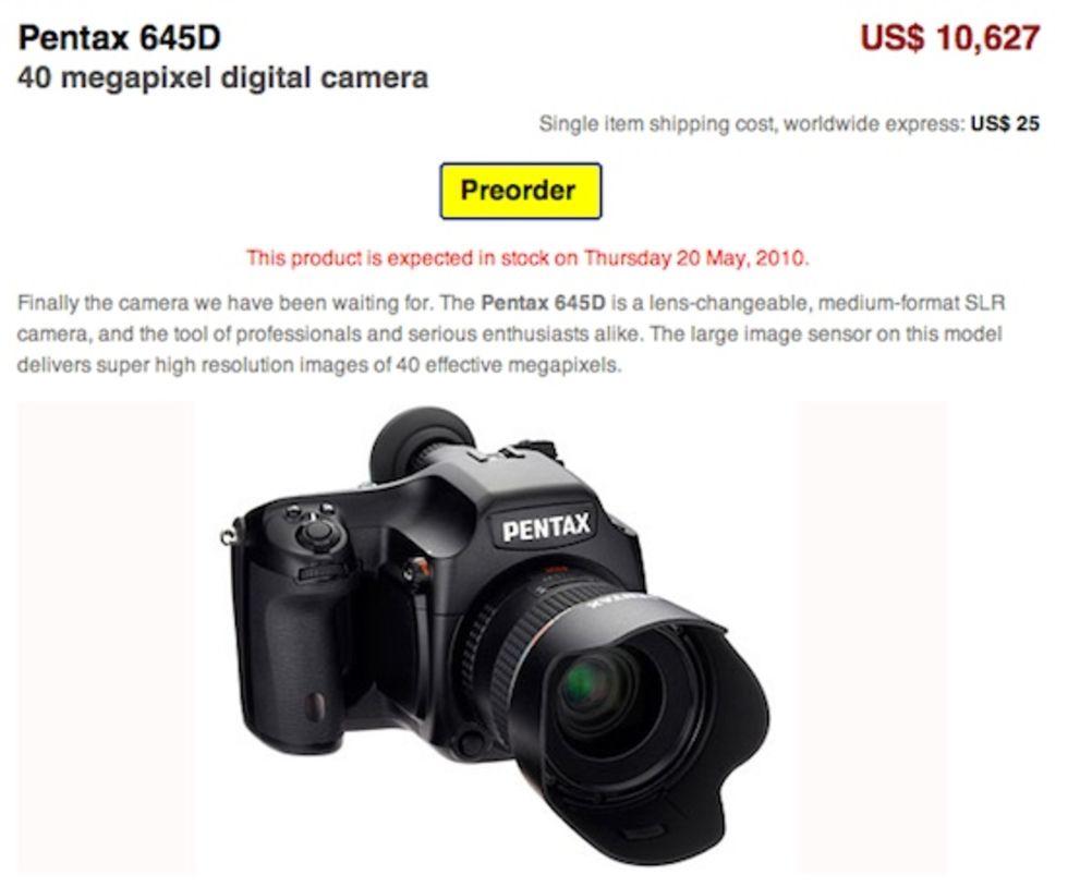 Beställ Pentax 645D från japan