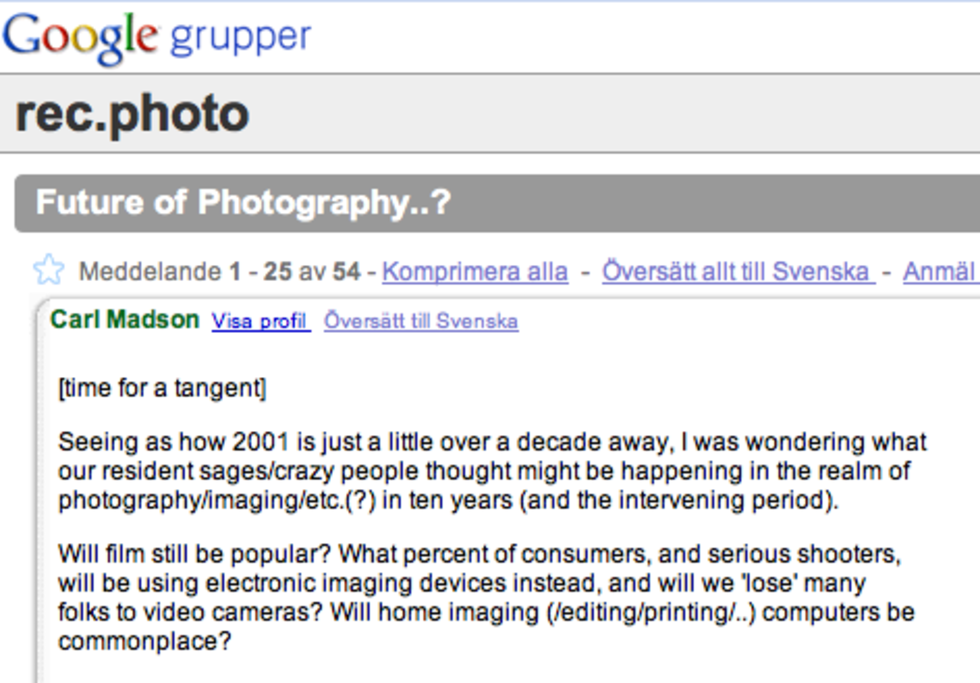 Tankar om fotografi från 1990