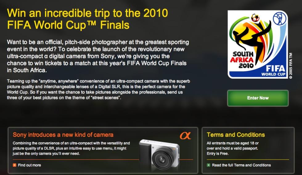 Sonys spegellösa kamera lanseras till fotbolls-vm