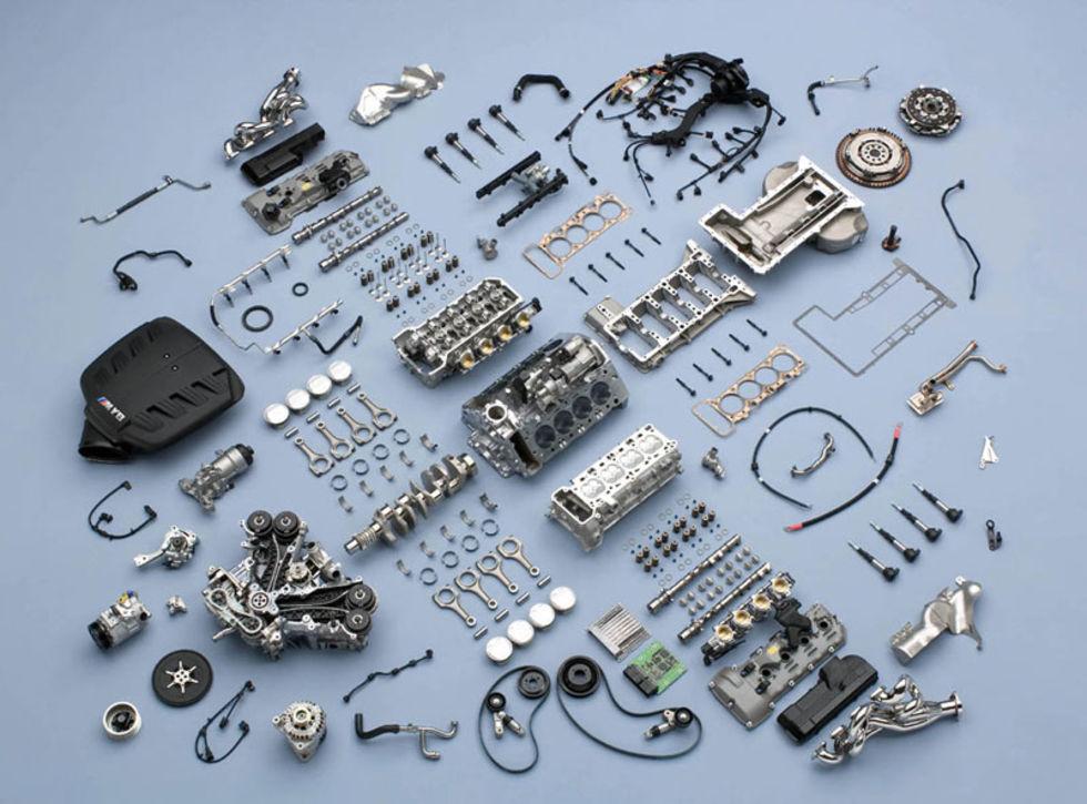 Nya M3 V8:an i detalj