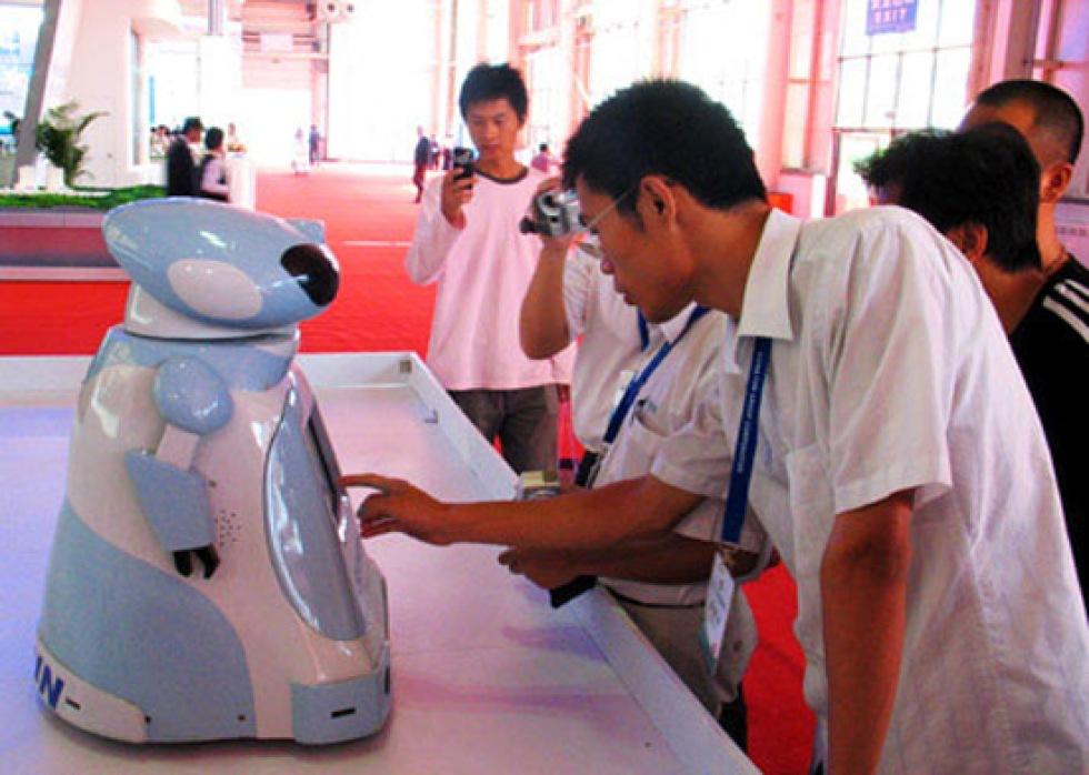 Kinesisk nanny-robot för de äldre