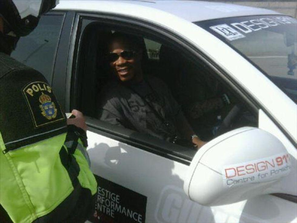 Xzibit tagen för fortkörning av svensk Polis