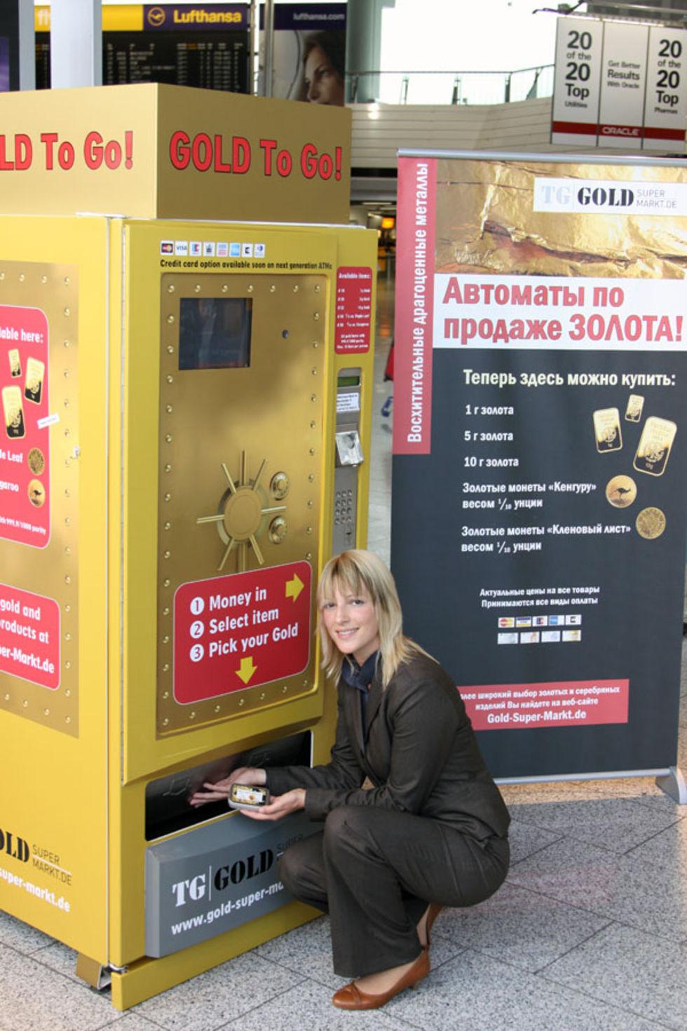 Nu går det att köpa guld direkt från en automat