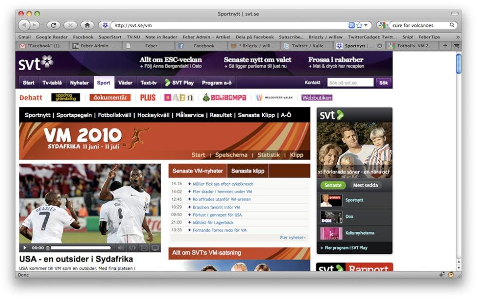 SVT släpper Fotbolls-VM-sajt
