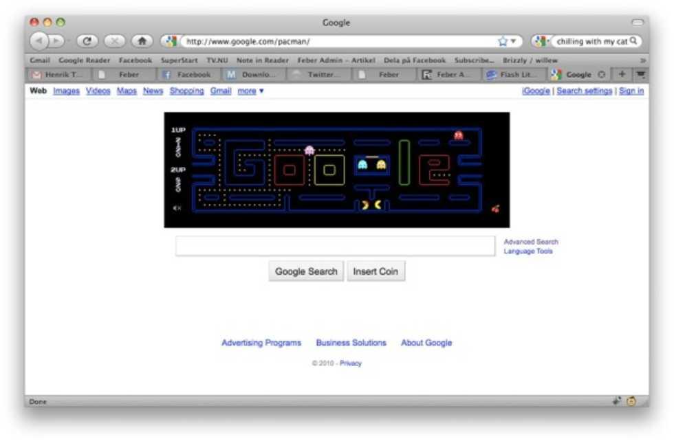Googles Pacman-logga