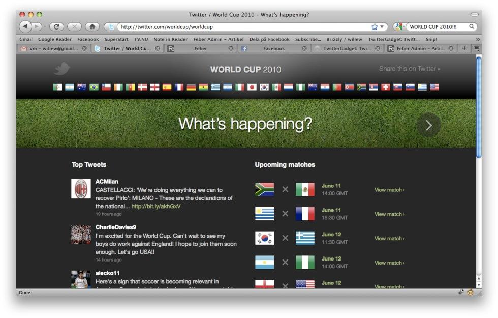 Följ Fotbolls-VM på Twitter