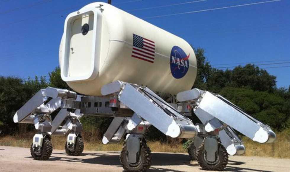 Athlete - månrobot som ser ut som en husvagn