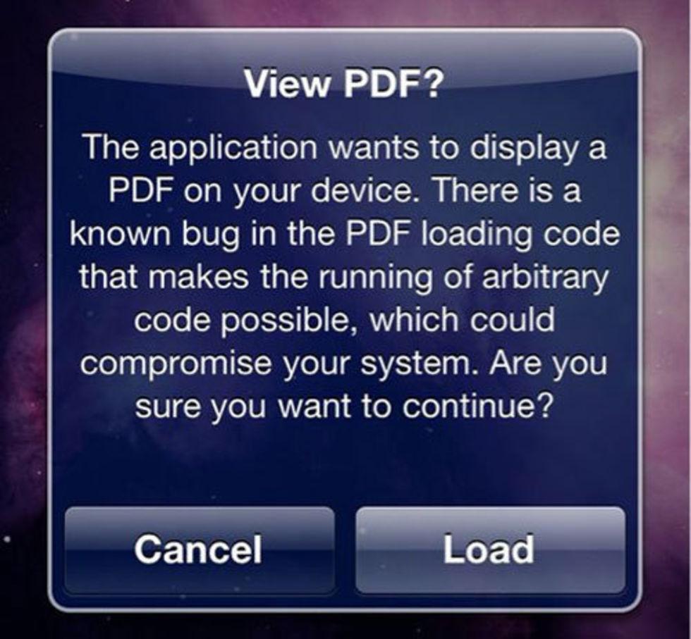 Säkerhetslucka i iPhone