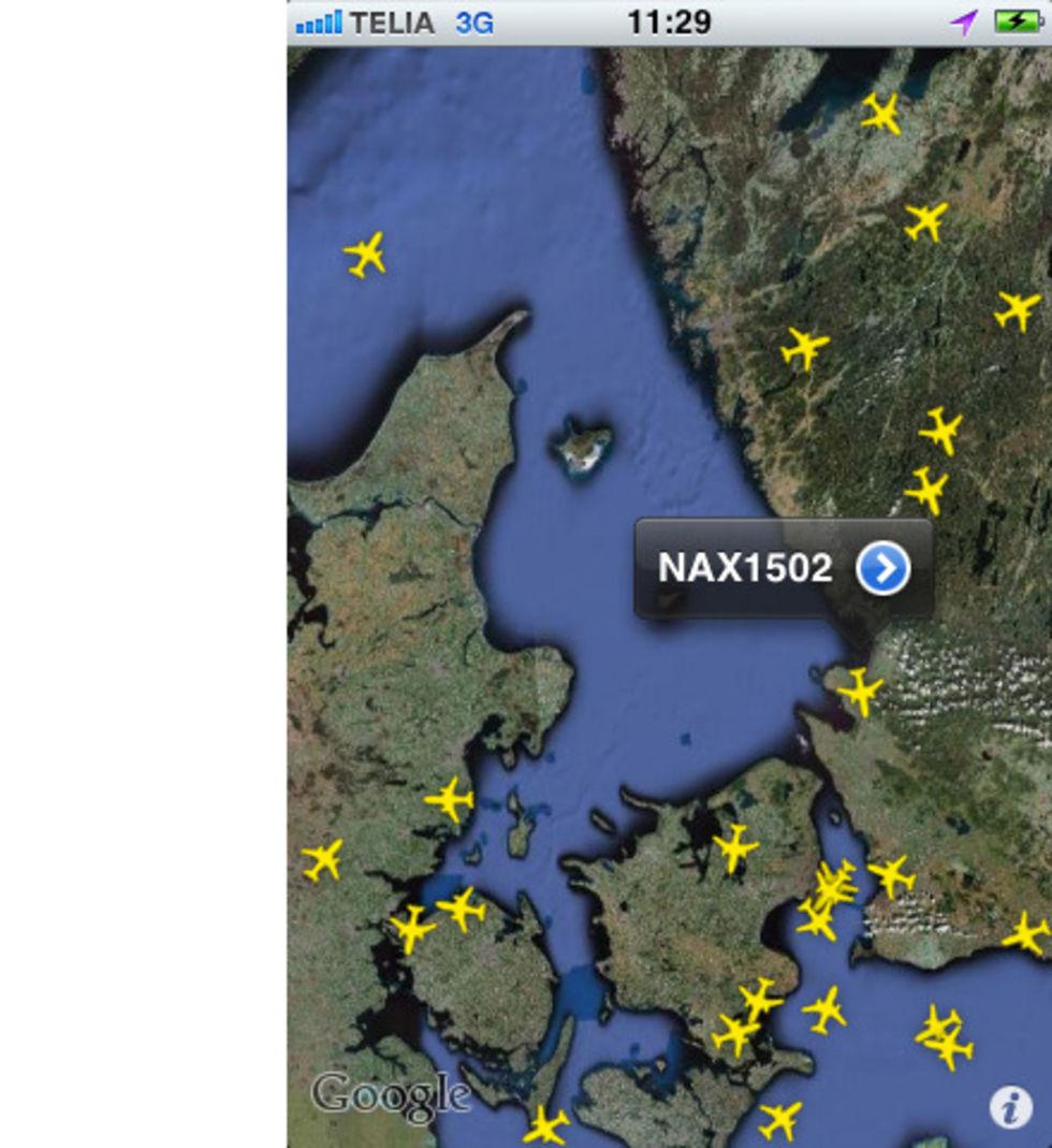 iPad- och iPhone-app följer flygtrafiken
