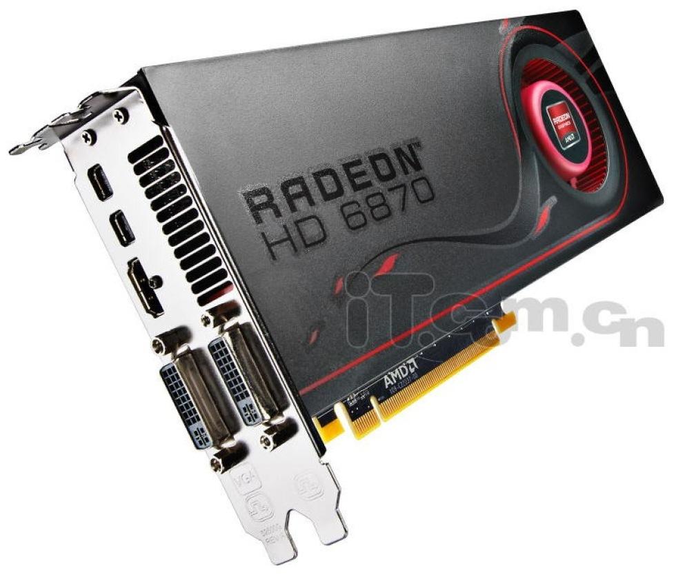 Bilder på referensdesignen av Radeon HD 6870
