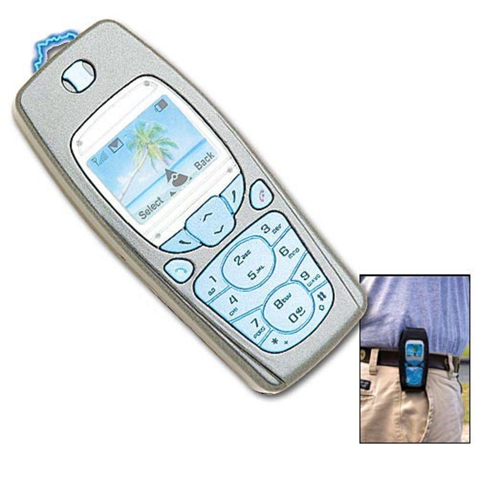 Elpistol som ser ut som en mobiltelefon