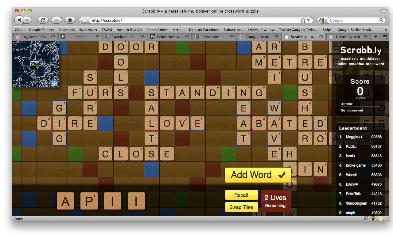 Scrabb.ly - världens största Alfapet?