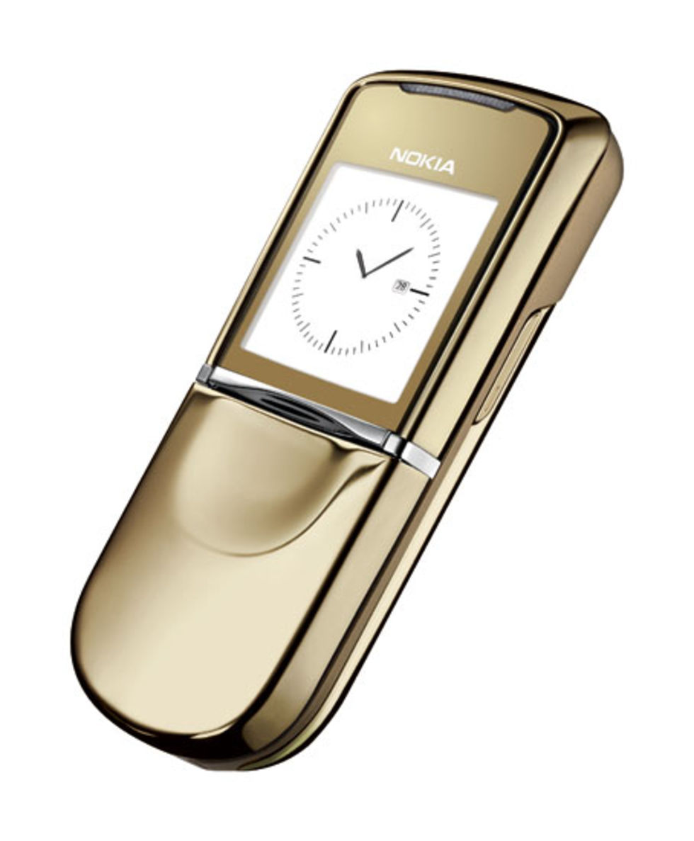 Nokia 8800 Sirocco i guld