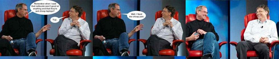 Jobs och Gates snackar netbooks