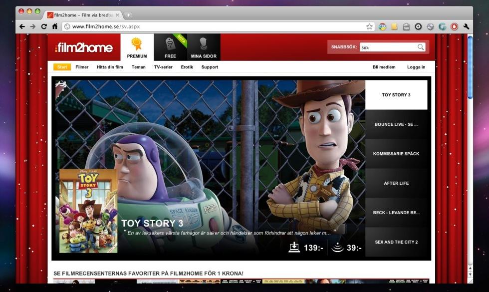 Film2home lanserar ny sajt