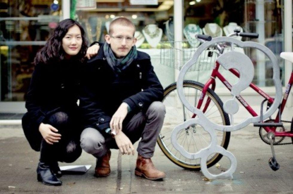 De vinnande cykelställen