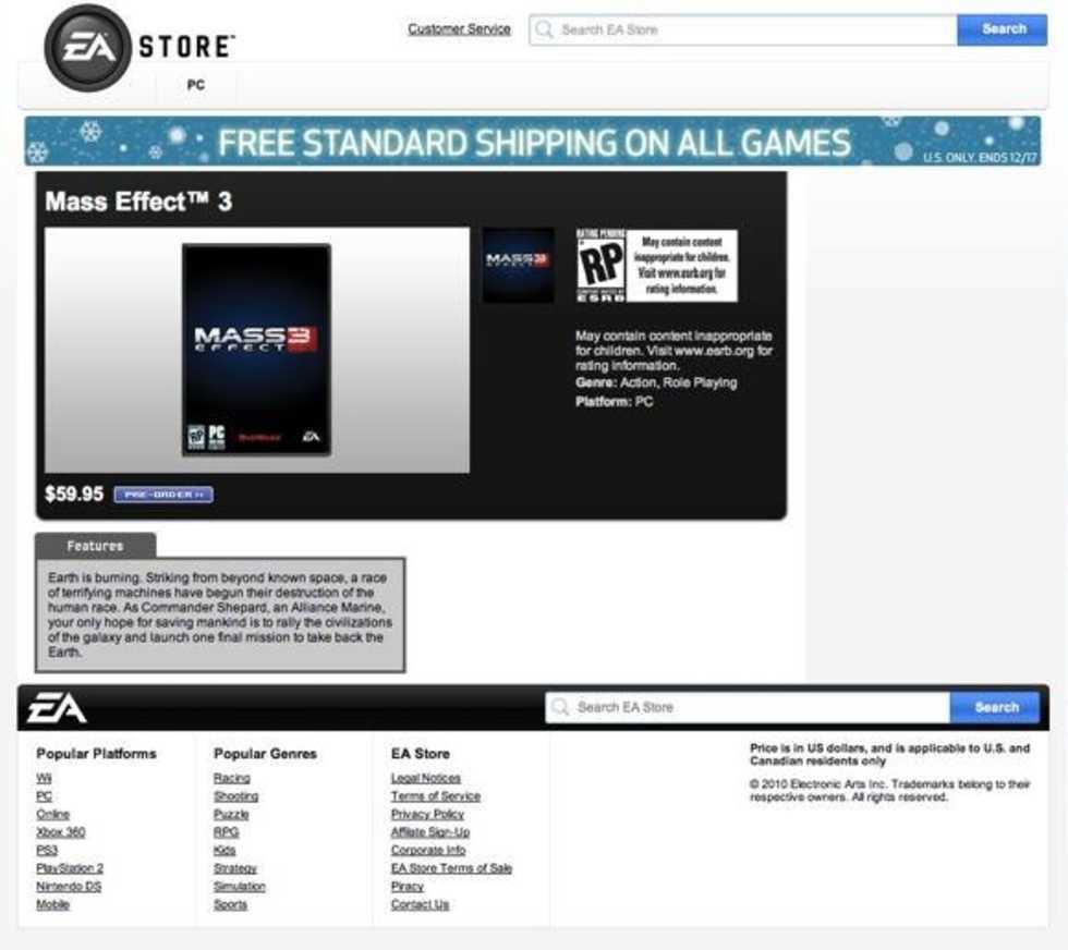 EA avslöjar Mass Effect 3