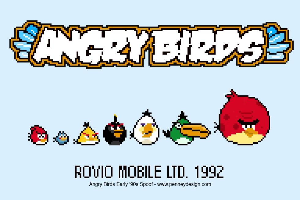Om Angry Birds kommit 1992