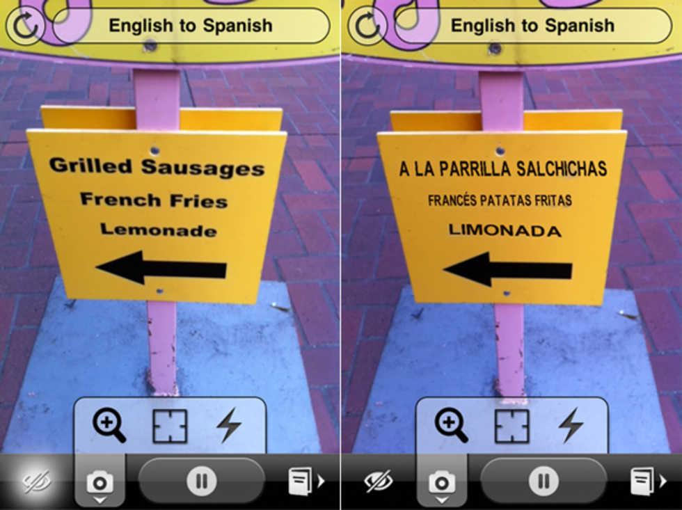 Word Lens-appen översätter med kameran