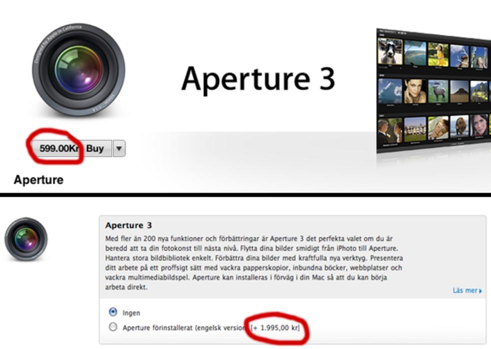 Apple Aperture numera 70% billigare