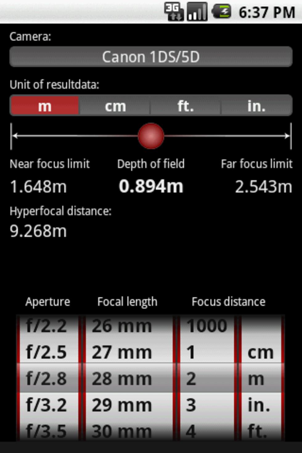 Ännu en DoF-räknare till Android