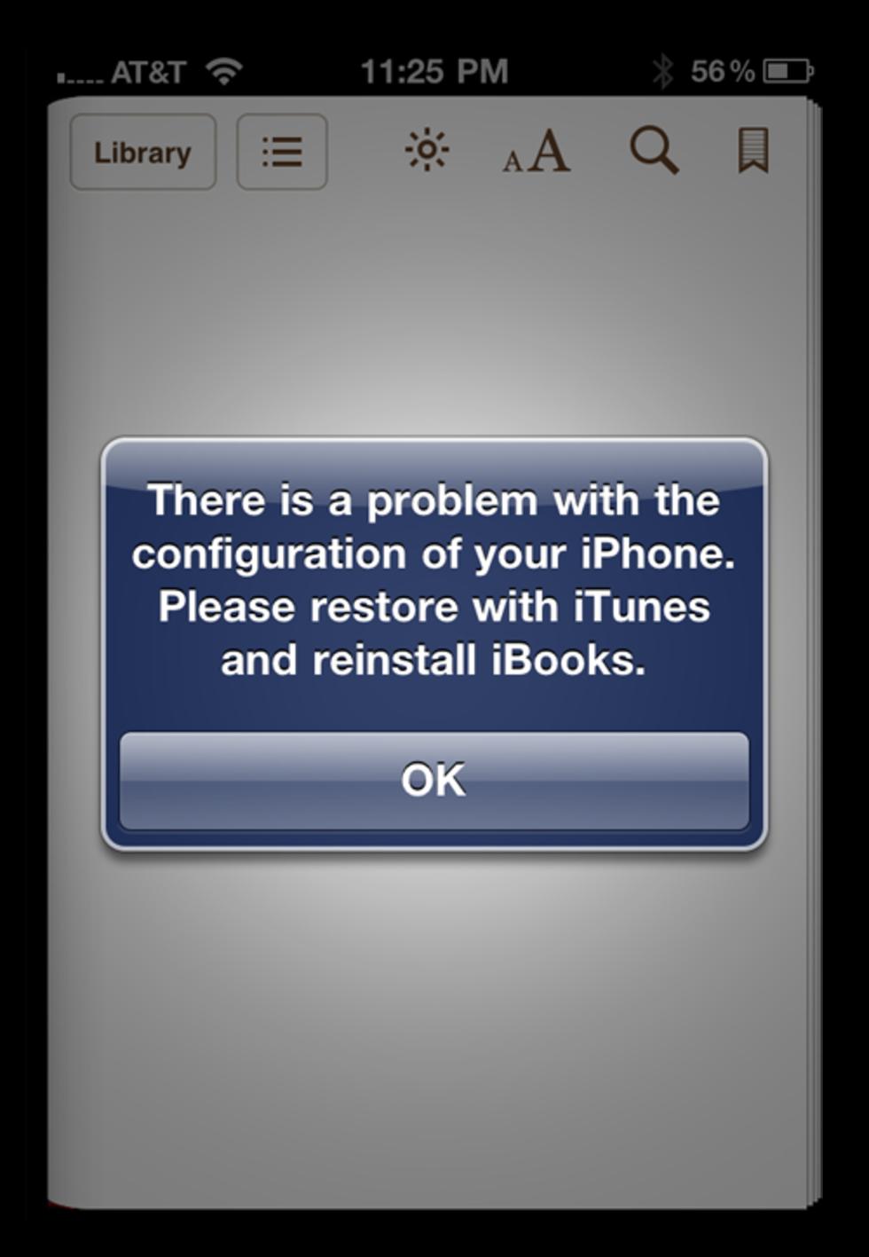 Inga iBooks på jailbrekade iOS-apparater