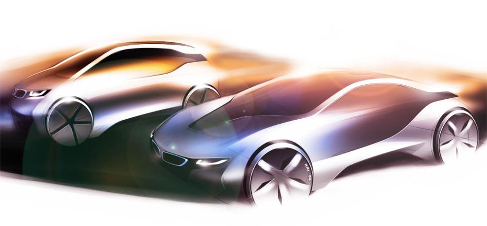 BMW:s nya gröna modeller - i3 och i8