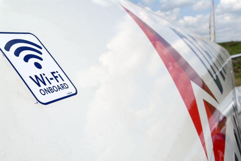 Påvisad störning från Wi-Fi i flygplansutrustning